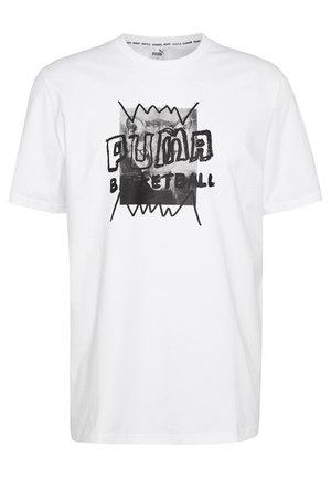 HOOPS STREET TEE - Print T-shirt - white