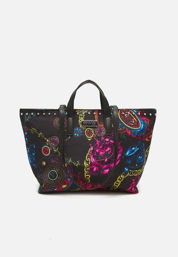 PRINTED ROCK STUDS - Shopping bag - nero