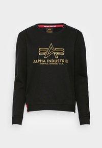 Alpha Industries - BASIC SWEATER EMBROIDERY - Sweatshirt - black - 3
