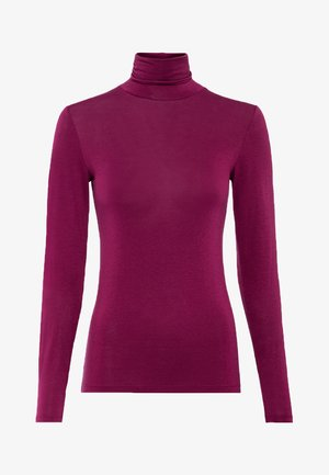 Long sleeved top - cassis