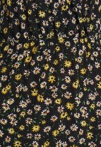 JDY - JDYGITTE SVAN CAPSLEEVE DRESS - Robe d'été - black /yellow - 4