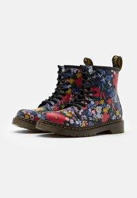 Dr. Martens - 1460 WANDERFLORA  - Lace-up ankle boots - black - 1
