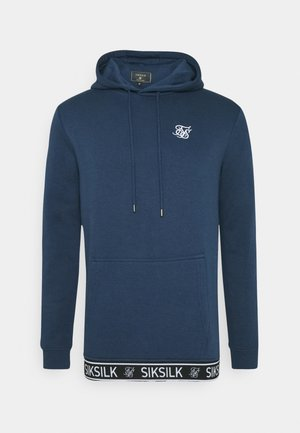 OVERHEAD TAPE HOODIE - Jersey con capucha - navy