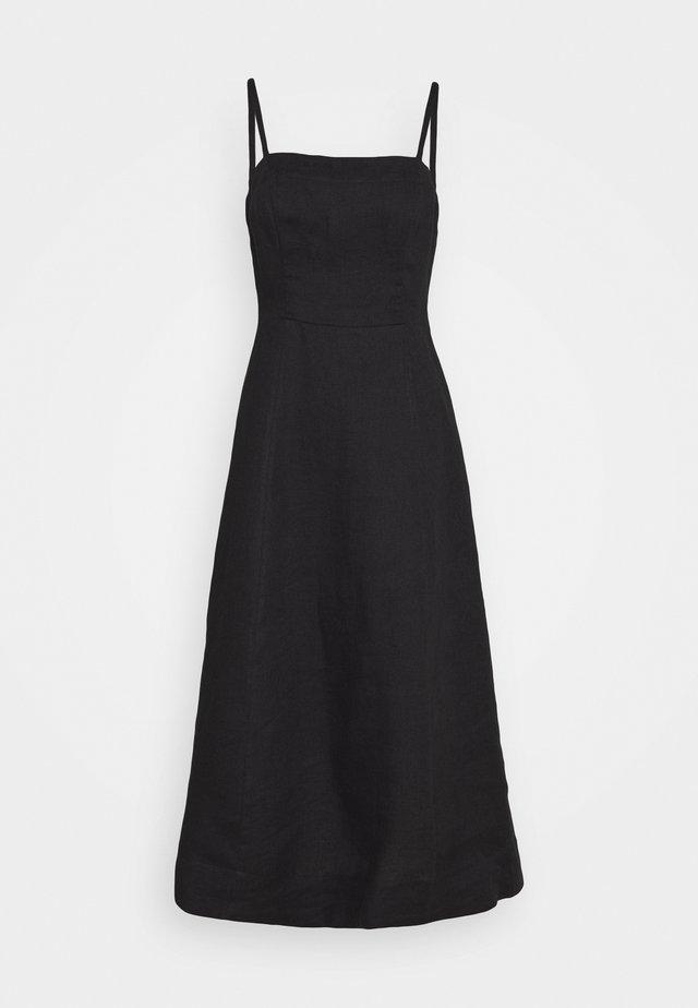 TIE FRONT STRAPPY DRESS - Vestito estivo - black