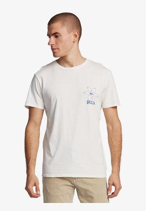 QUIKSILVER™ INTO WAVES - T-SHIRT FÜR MÄNNER EQYZT05798 - Print T-shirt - snow white