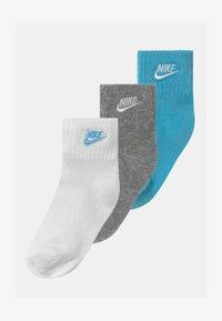 Nike Sportswear - CORE FUTURA ANKLE NO SLIP 3 PACK UNISEX - Ponožky - blue gaze - 0