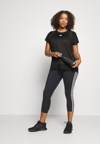 adidas Performance - TEE  - Basic T-shirt - black - 1
