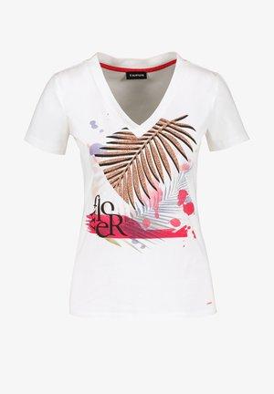 MIT FRONT-PRINT - T-shirt print - offwhite gemustert