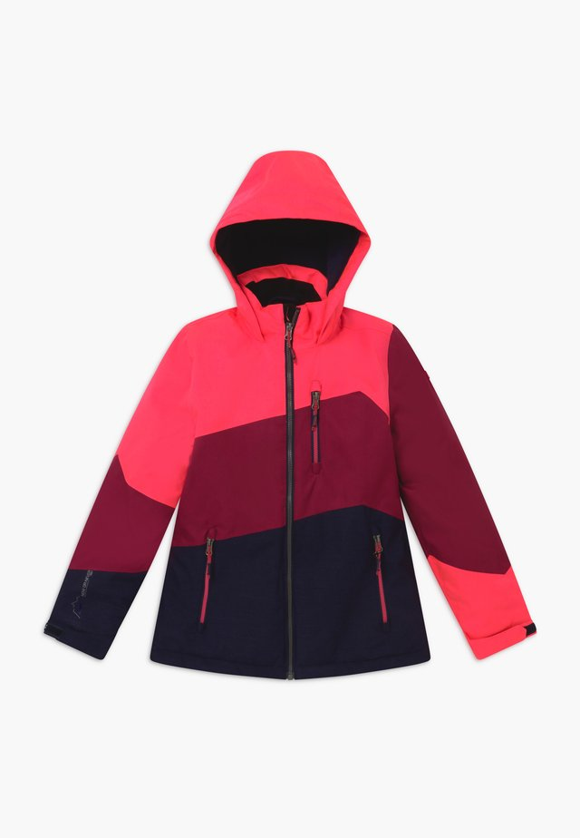 LYNGE GRLS - Giacca outdoor - neon-coral