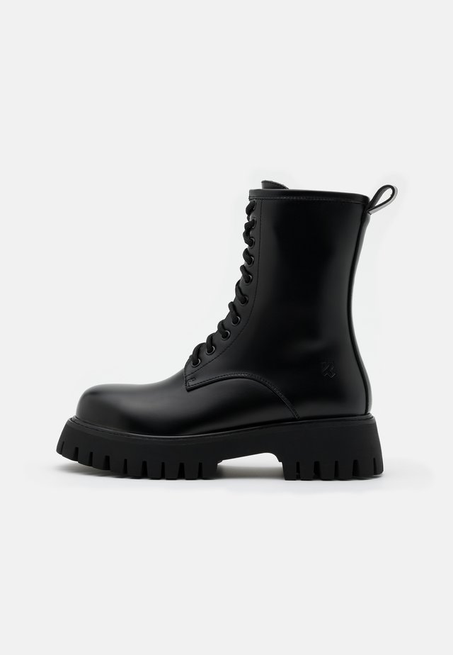 STEEL TOE CAP VEGAN MANIA - Bottines à plateau - black