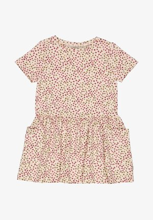 Jersey dress - powder mini flowers