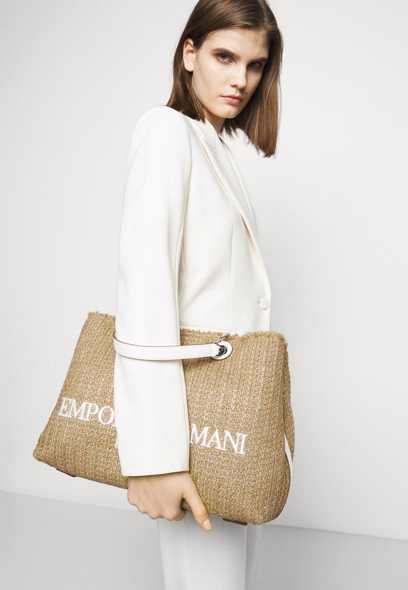 Emporio Armani - CAPSULE MYEABORSA SHOPPING - Handbag - natural/white