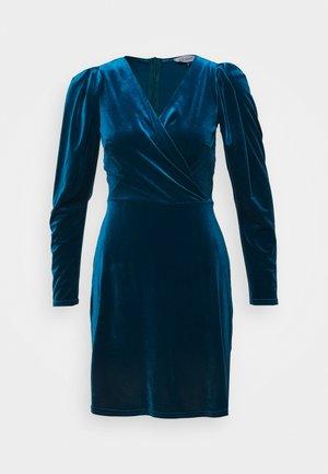 CLOSET WRAP FRONT PUFF SHOULDER DRESS - Hverdagskjoler - teal