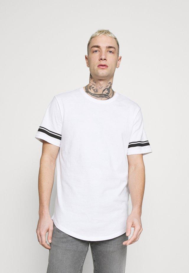 ONSMATT LIFE LONGY STRIPE - T-shirt con stampa - white