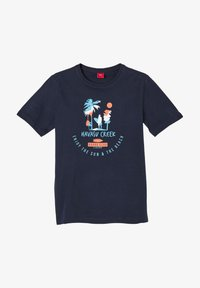 s.Oliver - Print T-shirt - dark blue - 0