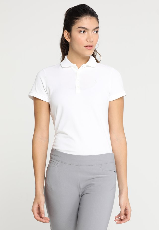 KATE SHORT SLEEVE - Polo - pure white