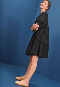 Next - PINTUCK - Day dress - black - 0