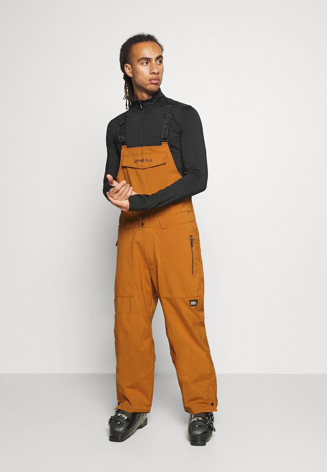 SHRED BIB PANTS - Pantalón de nieve - glazed ginger