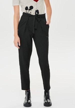 Nadelstreifen - Trousers - black