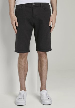 JOSH SUPERSTRETCH - Denim shorts - black stone wash denim