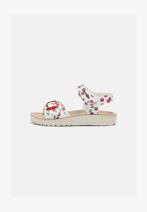 COSTAREI - Sandals - silver/red