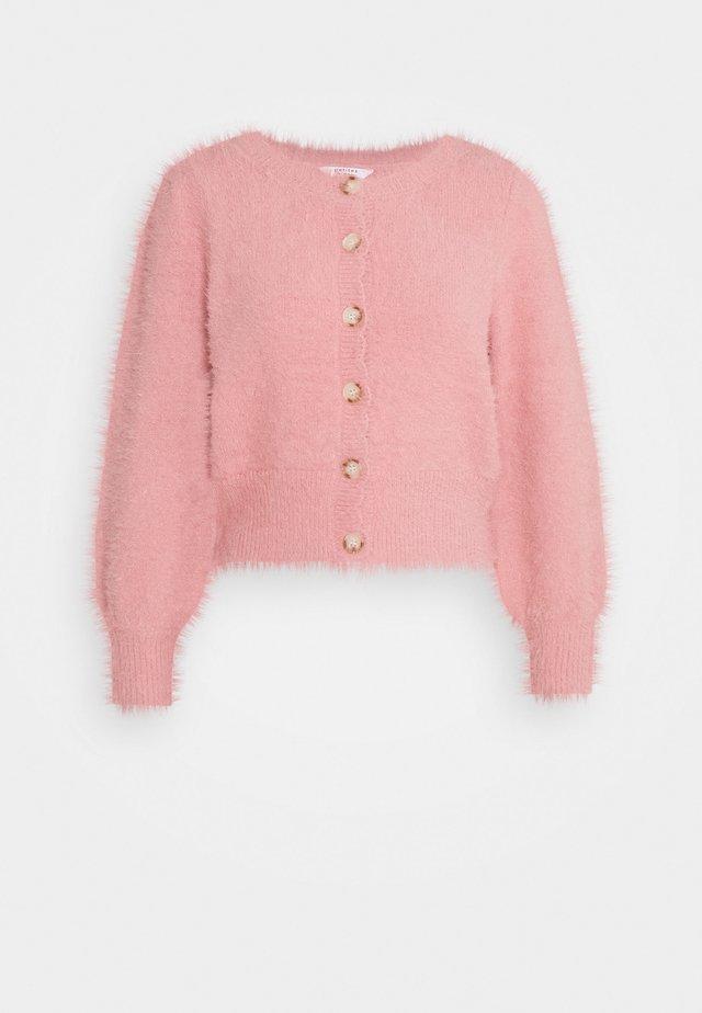 FLUFFY CARDIGAN - Vest - pink