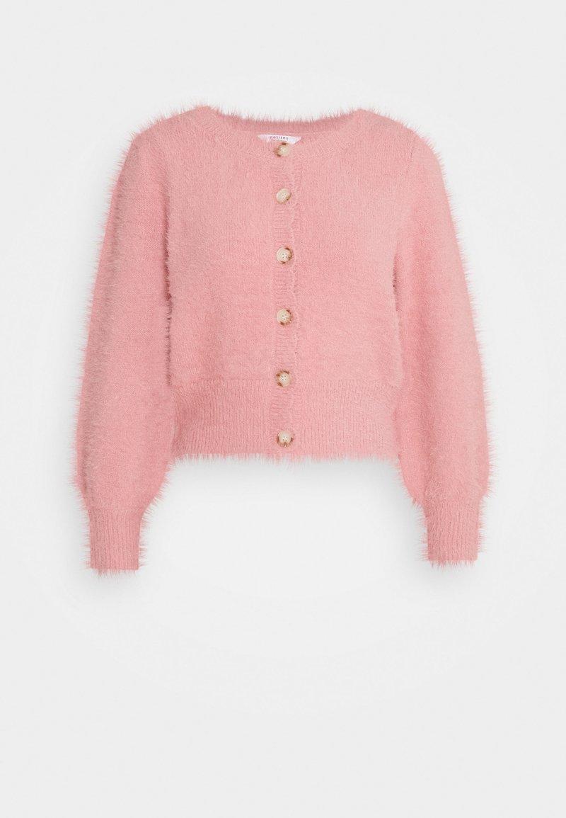 Miss Selfridge Petite - FLUFFY CARDIGAN - Cardigan - pink