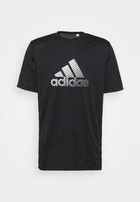 adidas Performance - Print T-shirt - black/gresix - 4