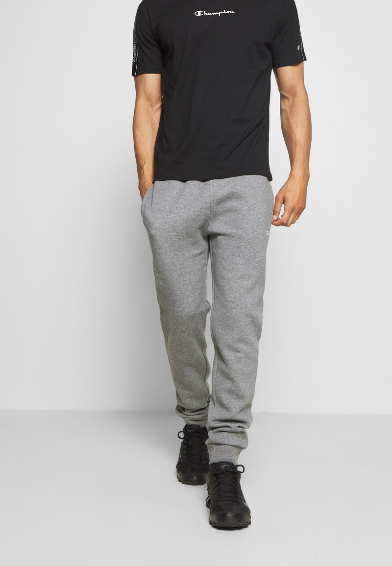 Champion - LEGACY CUFF PANTS - Tracksuit bottoms - mottled light grey