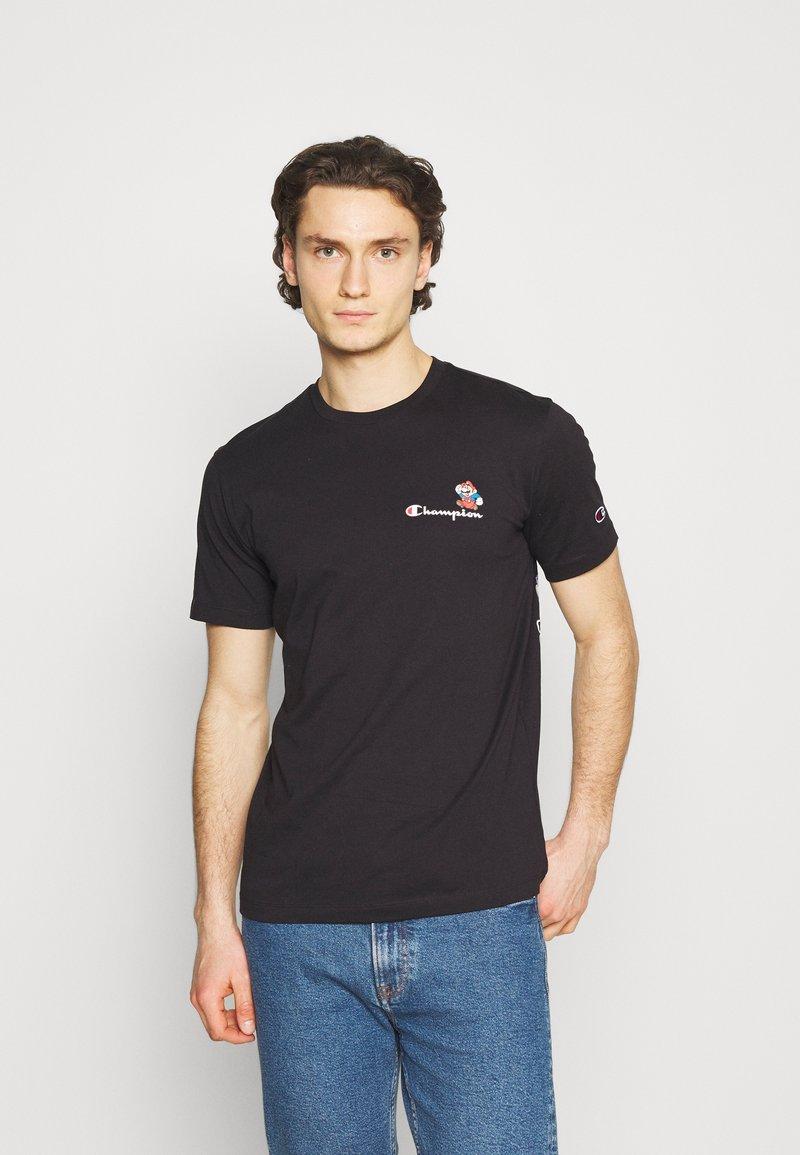 Champion Rochester - CREWNECK NINTENDO - Print T-shirt - black