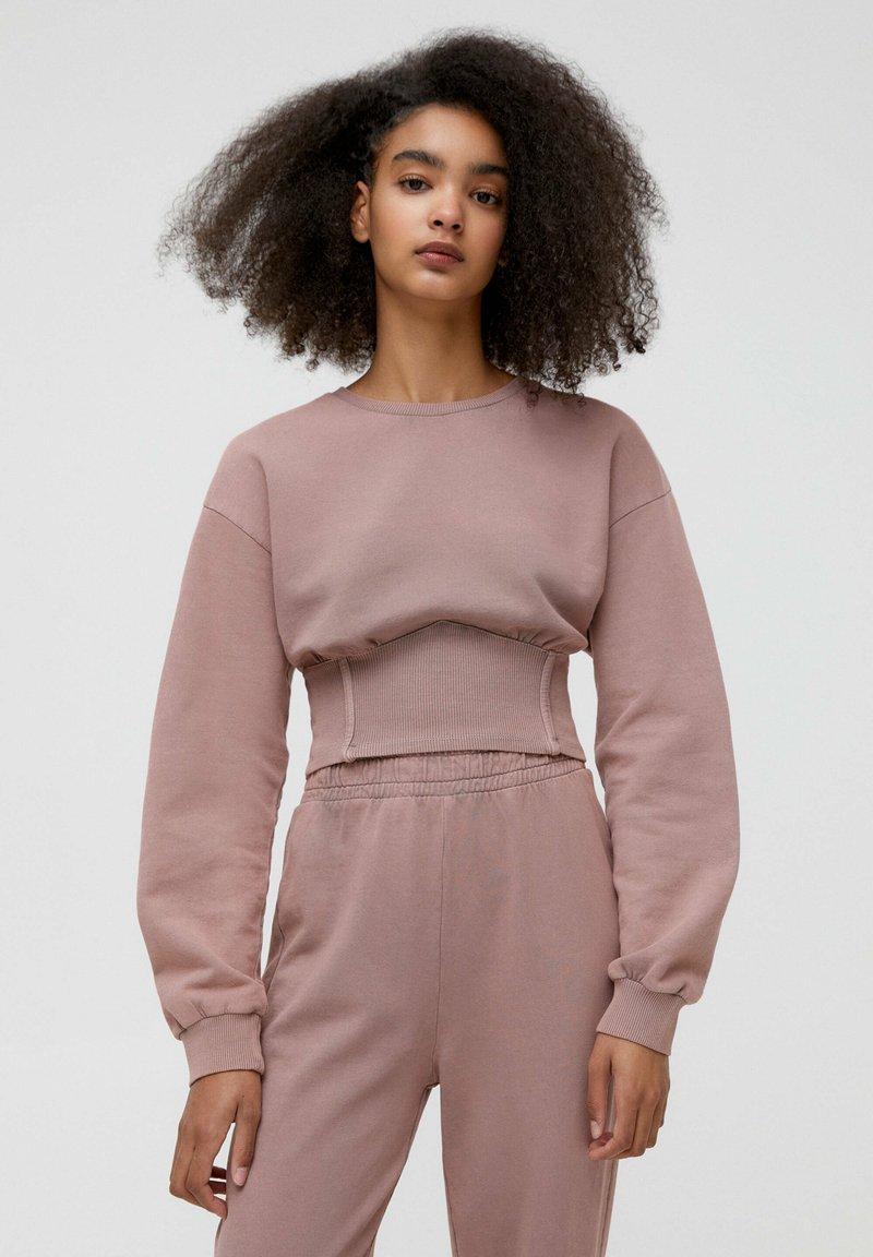 PULL&BEAR - Sweatshirt - mottled pink