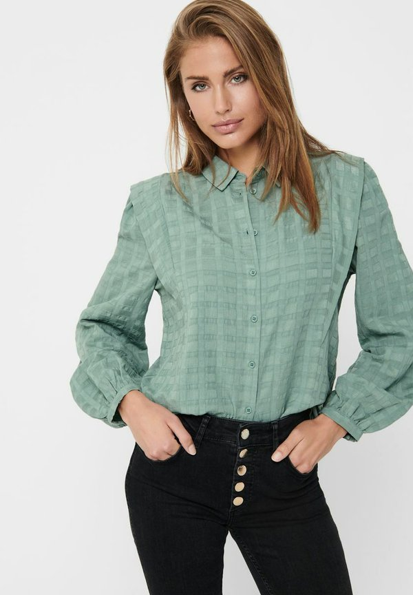 ONLY LANGÄRMELIGE - Koszula - chinois green/zielony ERPP