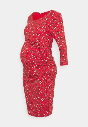DRESS DONNA - Jersey dress - poinsettia