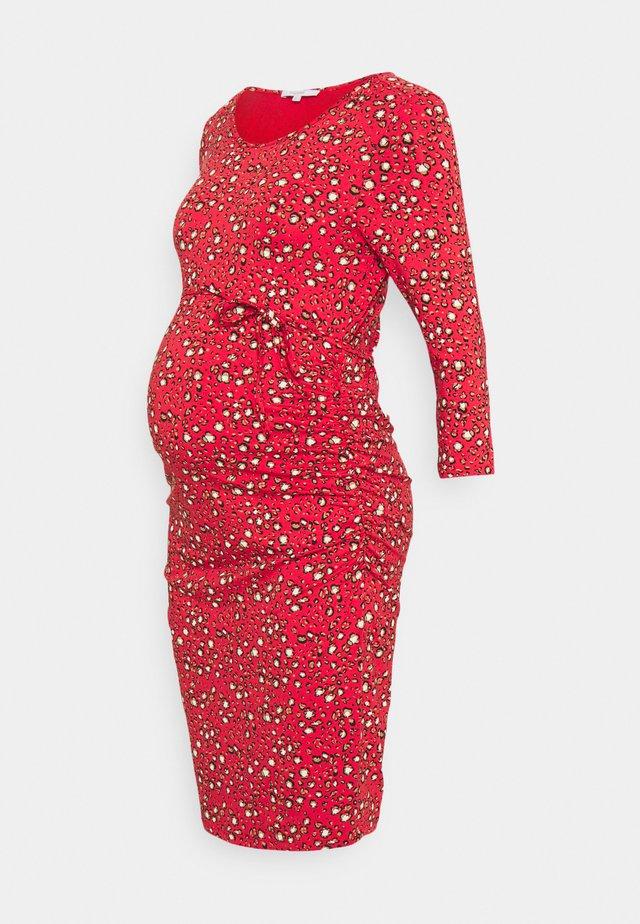DRESS DONNA - Jersey dress - poinsettia