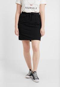 Zizzi - JELENA KNEE SKIRT - Mini skirt - black - 0