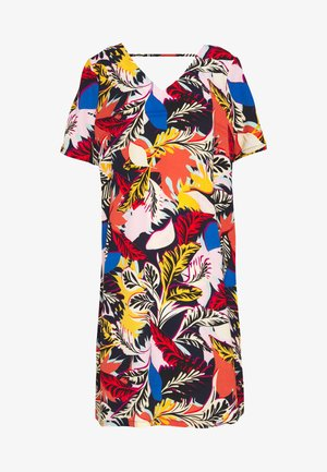 CARLUXLOU KNEE DRESS - Day dress - night sky/flower bloom