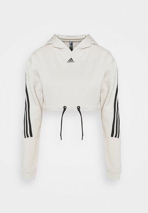 CROP HOODIE  - Sweatshirts - alumina/black