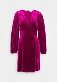 Closet - WRAP OVER MINI DRESS - Cocktail dress / Party dress - pink - 5