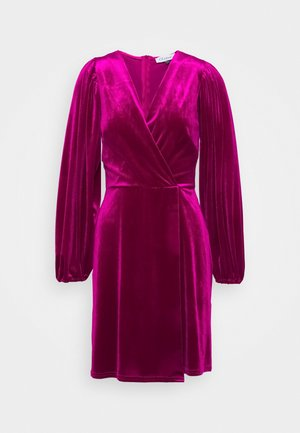 WRAP OVER MINI DRESS - Robe de soirée - pink