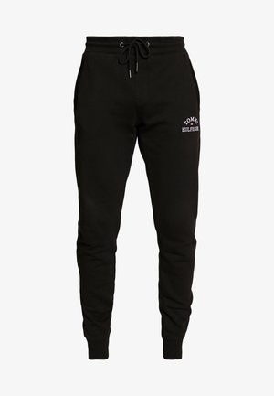 BASIC EMBROIDERED PANTS - Spodnie treningowe - black