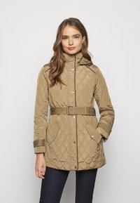 Lauren Ralph Lauren - JACKET BELT - Winter coat - sand - 4