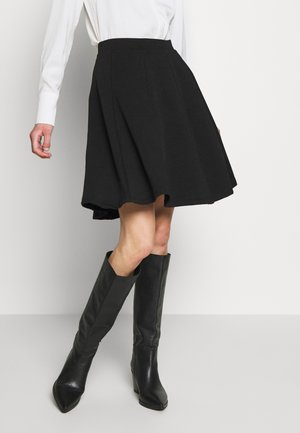 BASIC MINI A-LINE SKIRT - Spódnica mini - black
