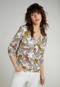 Oui - Blouse - offwhite red - 0