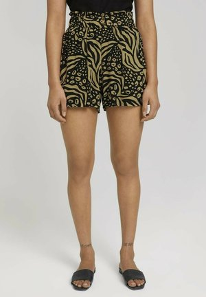Shorts - black animal print