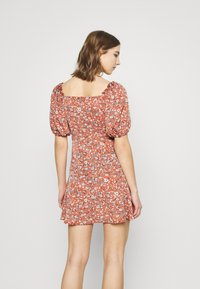 Missguided - MILKMAID SKATER DRESS FLORAL - Kjole - pink - 2