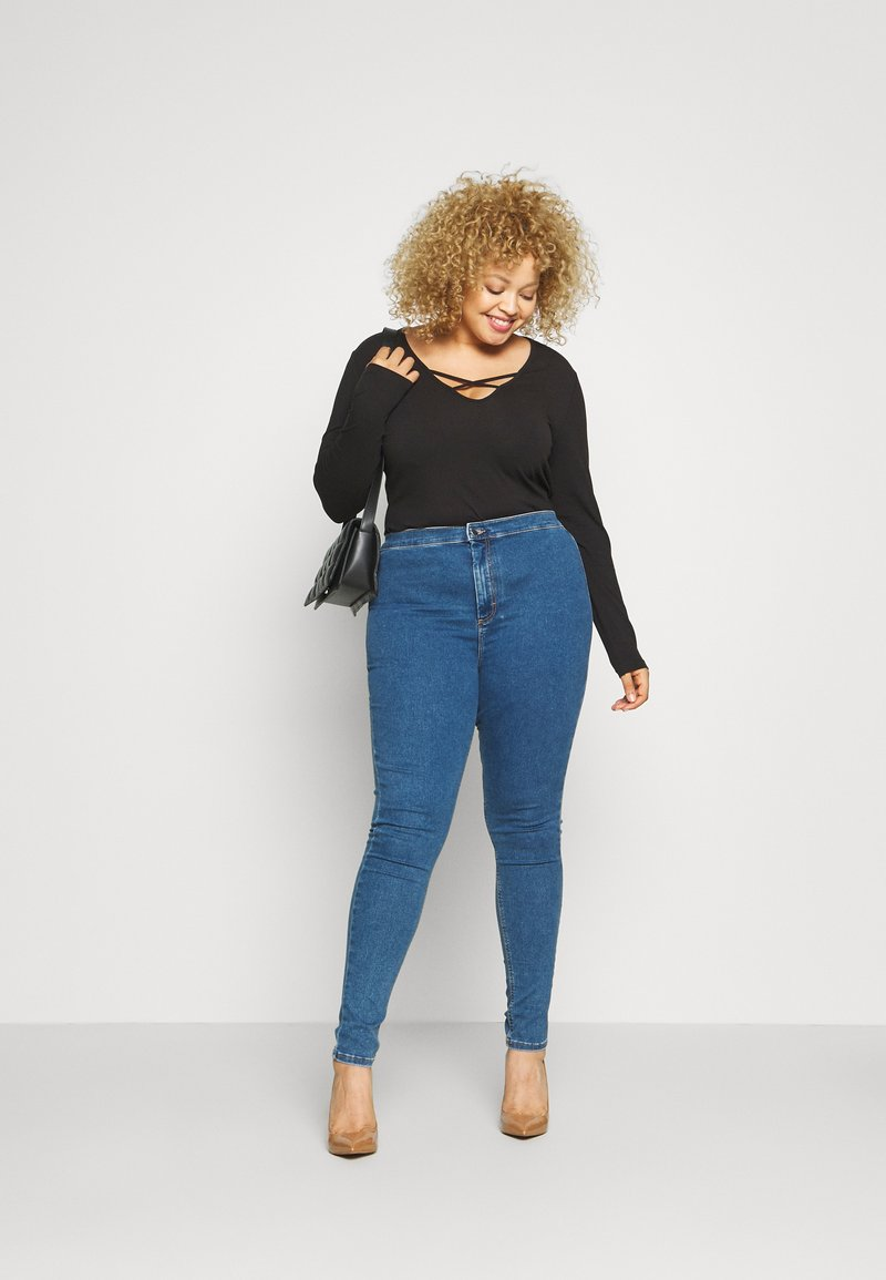 Even&Odd Curvy - JEGGING - Jeans Skinny Fit - blue denim