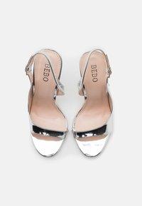 BEBO - BRISA - Sandály na vysokém podpatku - silver - 5