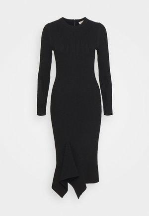 DRAPE HEM MIDI DRESS - Shift dress - black