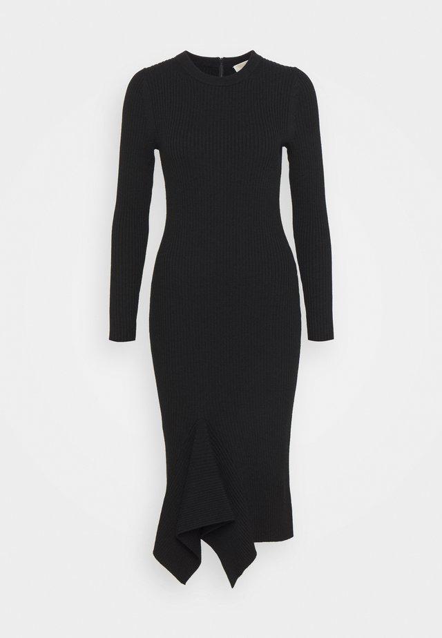 DRAPE HEM MIDI DRESS - Jumper dress - black
