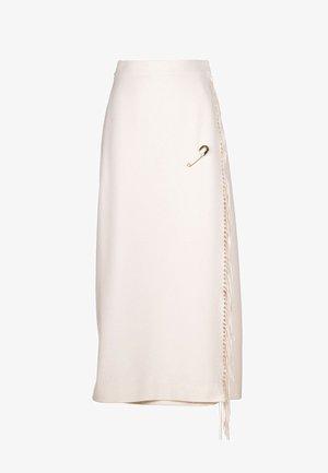 FINLANDIA - Wrap skirt - panna